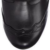 svart 10,5 cm TESLA-102 høye ankelstøvletter med snøring til dame