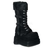 svart 11,5 cm BEAR-202 lolita støvler gothic platå tykke såler