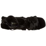 svart 11,5 cm CHIC-26 høyhælte stiletter sko
