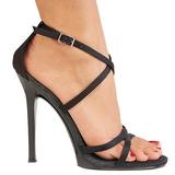 svart 11,5 cm GALA-41 høyhælte stiletter sko