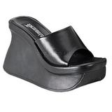 svart 11,5 cm PACE-01 platå gothic flip flops til dame