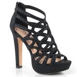svart 11,5 cm Pleaser SELENE-24 sandaler med høye hæler