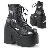 svart 12,5 cm CAMEL-201 gothic lolita ankelstøvletter platå