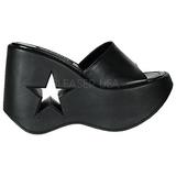 svart 13,5 cm DYNAMITE-01 platå gothic flip flops til dame