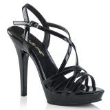 svart 13 cm Fabulicious LIP-113 dame sandaler med hæl
