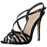 svart 13 cm Pleaser AMUSE-13 dame sandaler med hæl
