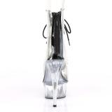 svart 15 cm DELIGHT-600-34 pole dancing ankelstøvletter