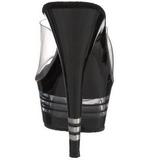 svart 15 cm Pleaser DELIGHT-601LN høyhælte slipper damer sko