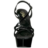 svart 15 cm Pleaser DELIGHT-613 sandaler med høye hæler