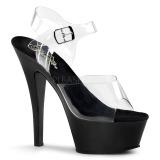 svart 15 cm Pleaser KISS-208 platform høyhælte sko