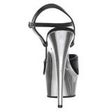 svart 15 cm Pleaser KISS-209 krom platå høye hæler sko