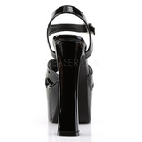 svart 16,5 cm CANDY-40 høye damesko med hæl