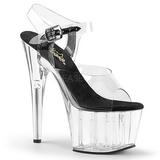 svart 18 cm ADORE-708 akryl platå høye hæler sko