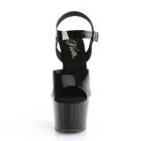 svart 18 cm ADORE-708N platform høyhælte sko