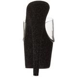 svart 18 cm Pleaser ADORE-701SDG glitter platå høye mules