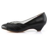 svart 4 cm LULU-05 pinup pumps sko med lave hæler
