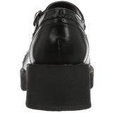 svart 5 cm CRUX-07 lolita gothic platåsko