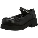 svart 5 cm CRUX-07 lolita sko gothic dame platåsko med tykke såler