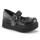 svart 6 cm DEMONIA SPRITE-05 gothic platåsko
