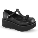 svart 6 cm SPRITE-03 lolita sko gothic platåsko med tykke såler