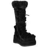 svart 7 cm CUBBY-311 lolita støvler gothic platå tykke såler