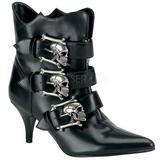 svart 7 cm DEMONIA FURY-06 gothic ankelstøvler dame