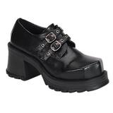 svart 7 cm TRUMP-101 lolita sko gothic dame platåsko med tykke såler