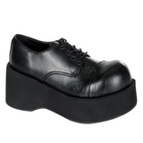 svart 8,5 cm DANK-101 lolita sko gothic dame platåsko med tykke såler