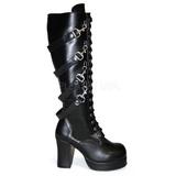 svart 9,5 cm GOTHIKA-209 lolita støvler gothic platå tykke såler