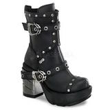 svart 9 cm SINISTER-201 lolita ankelstøvler gothic platå tykke såler
