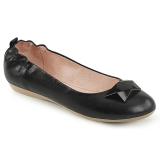 svart OLIVE-08 ballerinasko lave damesko