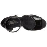 svart akryl 20 cm FLAMINGO-889LN dame sandaletter ekstrem platå