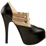 svart beige 14,5 cm TEEZE-24 høye damesko med hæl