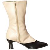 svart beige 7 cm VICTORIAN-123 ankel høye støvler dame