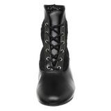 svart blondestoffer 5 cm DAME-05 dame ankelstøvletter med snøring