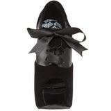svart fløyel 14,5 cm Burlesque TEEZE-16 høye damesko med høy hæl