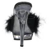 svart gjennomsiktig 13 cm Fabulicious LIP-101-8 platå høye mules