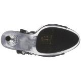 svart gjennomsiktig 14 cm ALLURE-609 høye stiletthæler platå