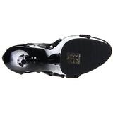 svart gladiator 15 cm DELIGHT-682 høyhælte sandaler sko