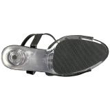 svart glinser 15 cm DELIGHT-609-5G høye hæler damer sko