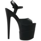 svart glinser 20 cm Pleaser FLAMINGO-809-2G høye hæler platå