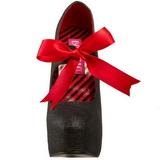 svart glitter 14,5 cm Burlesque TEEZE-04G høye damesko med høy hæl