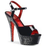svart glitter 15 cm Pleaser KISS-209TTG pole dancing sko