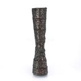 svart glitter 18 cm STACK-301G demonia støvler - unisex cyberpunk støvler