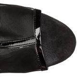 svart grid 16 cm Pleaser DELIGHT-1018MSH platå ankel høye støvler