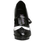 svart hvit 10,5 cm CONTESSA-06 høye damesko med hæl