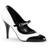 svart hvit 10,5 cm VANITY-442 dame pumps med lave hæl