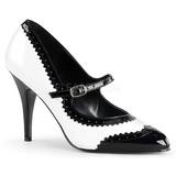 svart hvit 10,5 cm VANITY-442 dame pumps sko flate hæl