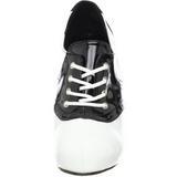 svart hvit 11,5 cm SADDLE-48 oxford høye damesko med hæl