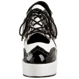 svart hvit 11 cm GANGSTER-15 høye damesko med hæl